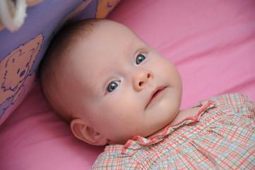 Blue-eyed baby girl