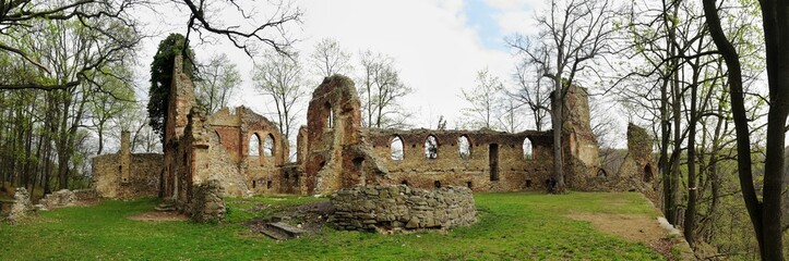 romantic ruine Old Ksiaz in Wa³brzych in Poland