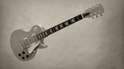 electric guitar on isolated background