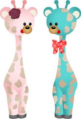 Couple Baby Giraffes