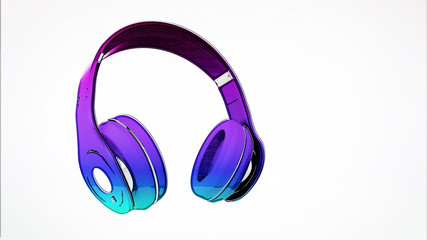 headphone on isolated background