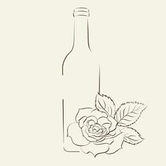 Handwritten wine tasting sign.