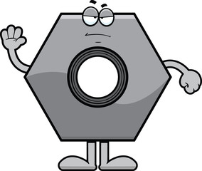Cartoon Bolt Grumpy