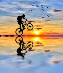 el ciclista y el sol
