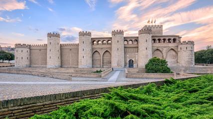 Aljaferia Palace in Zaragoza, Spain
