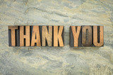 thank you in wood type
