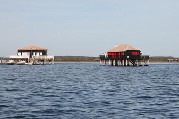 cabanes du bassin