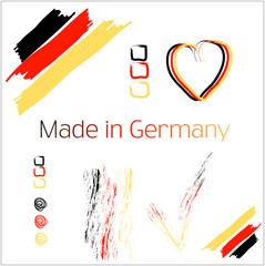 Made in Germany set Zeichen handgemalt