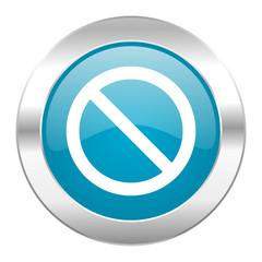 access denied internet blue icon