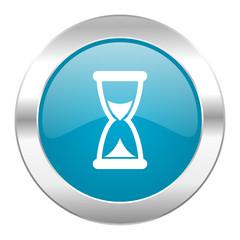 time internet blue icon