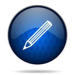 write internet blue icon