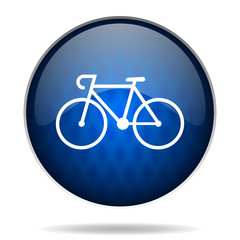 bike internet blue icon