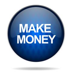 make money internet blue icon
