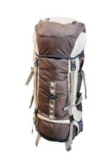 tourist rucksack  under the light background