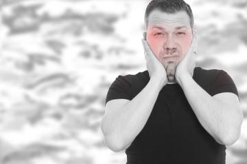 Mann platz der Kopf - Burnout