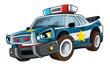 Cartoon police car - illustration for the children