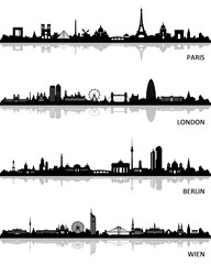 Skylines Paris London Berlin Wien
