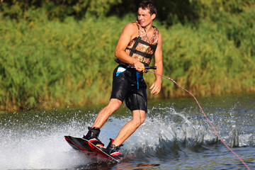 athlete on the wakeboard