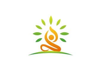 wellness,logo,yoga,fitness,people,health,nature,meditation