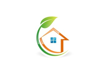 eco,house,Branding,corporate,logo,plant,real estate,nature
