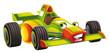 Cartoon sports car racing