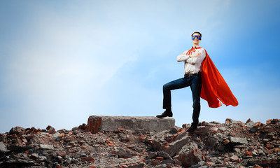 Determined superman