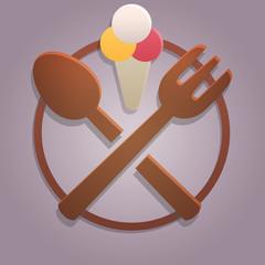 Icona alimentazione gelato