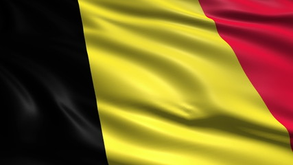 flag of Belgium with fabric structure; looping