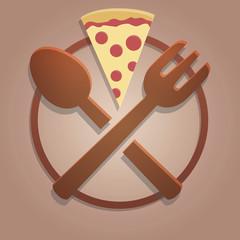 Icona alimentazione pizza