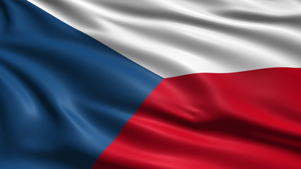 flag of the Czech Republic with fabric structure; looping