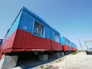 RUSSIA, NADYM - JUNE 6, 2011: Сorporation GAZPROM in Novy Ureng