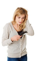 Woman loosing hair