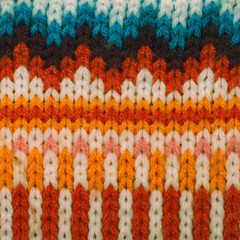 Wool knitted background, vintage toned