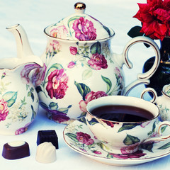 english tea set, square image