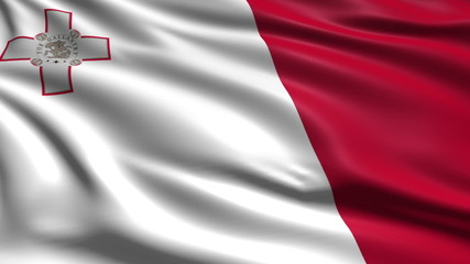 flag of Malta with fabric structure; looping