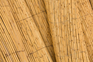 Detail of bamboo fence background