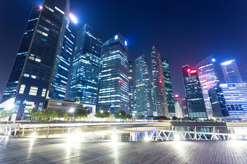 night view of prosperous city