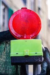 Lampada segnaletica, lavori in corso cantiere