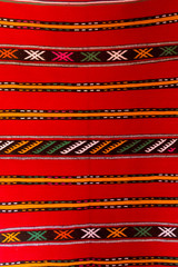 Traditional oriental carpet in Aït-ben-Haddou, Morocco