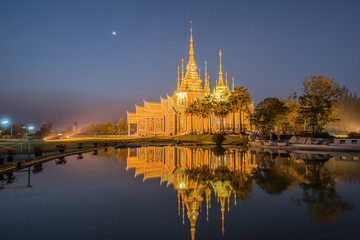 Beautiful temple with reflection in Thailand