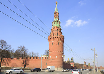 Tower of the Moscow Kremlin in Moscow.