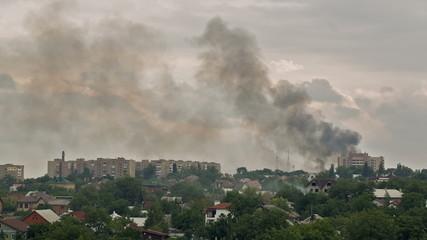 After the Artillery Strike in Donetsk
