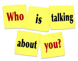 Who Is Talking About You Sticky Notes Question Buzz Social Media