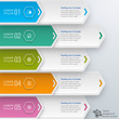Infographics Vector Background 5-Step Process