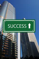 Success road sign