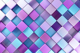 Blue and purple blocks abstract background - 70375292