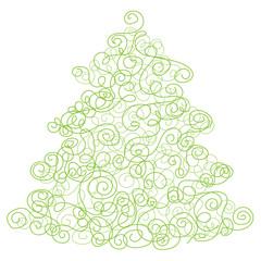 Swirly Abstract Christmas Tree