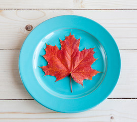 Autumn menu. The allegorical image of that autumn