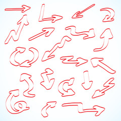 Set of arrows pointers.