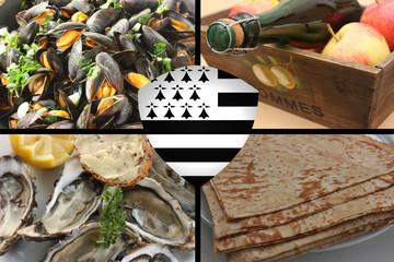 Gastronomie bretonne : Fruits de Mer  Crêpe Cidre